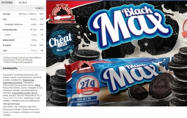 Black Max Protein Cookie Box